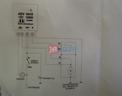 Elektronický regulátor dynama AEV0410, 12V/150W