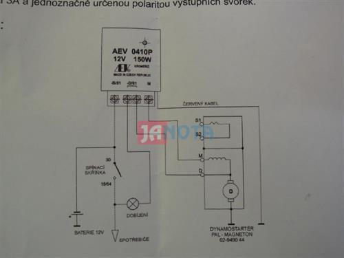 Elektronický regulátor dynama AEV0410P, 12V/150W