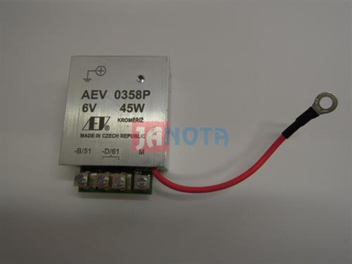 Elektronický regulátor relé dynama 6V / 45W, AEV0358P