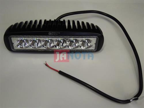 Světlo pracovní LED,  6 x 3W hranaté