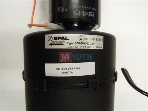 Ventilátor výparníkový topení 24V, SPAL 008-B46-02, 3 rychlosti