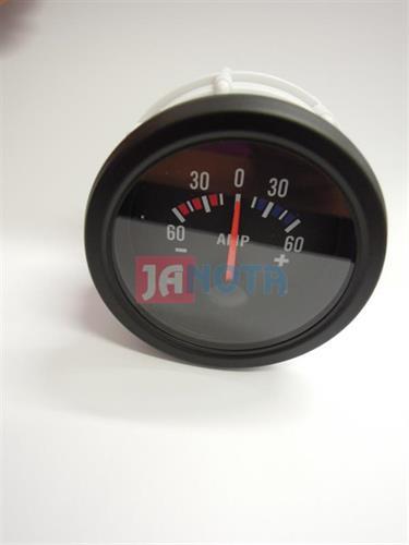 Ampérmetr 60 - 60, 12V, černý, O.D. 52 mm