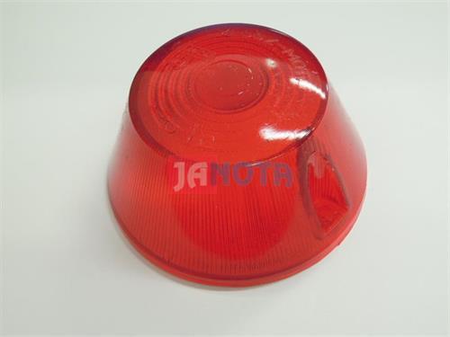 Kryt světla červený kulatý