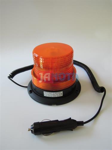 Maják magnetický LED oranžový 12V - 80V