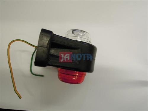 Poziční světlo gumové červené - bíle,  R5W