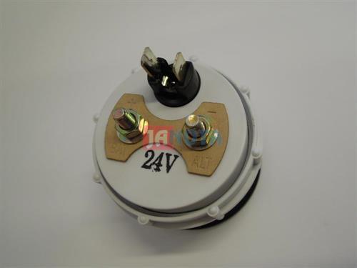 Ampérmetr 60 - 60, 24V, bílý, O.D. 52 mm