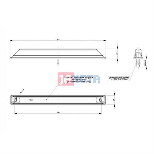 Stropní světlo - vnitřní osvětlení LED 12V / 24V