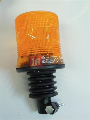 Maják zábleskový xenon pevný na tyč oranžový 12V - 24V
