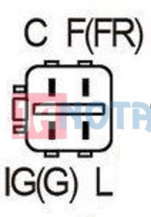 Regulátor alternátoru A005TA0991, A005TA0991ZC, A005TA0992, A005TA3591, 230260, 14V