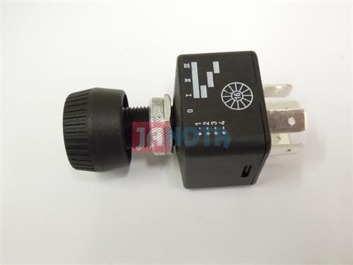 Otočný spínač vypínač (0-1-2-3) 12V/15A,  24V/7,5A