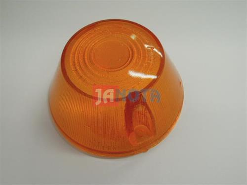 Kryt světla oranžový kulatý