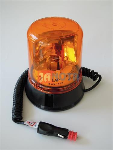 Maják oranžový 12V / 24V rotační magnetický
