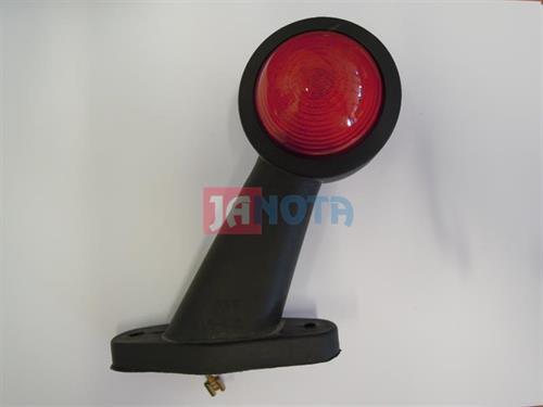 Poziční tykadlo světlo gumové červené - bílé R5W