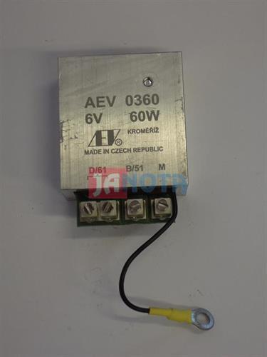 Relé dynama JAWA, regulátor 6V / 60W, AEV 0360
